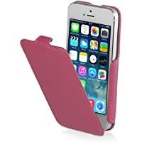 StilGut Slim Case (Variante B) exklusive Tasche für Apple iPhone 5, 5s & iPhone SE Smartphone aufklappbar, Rosa