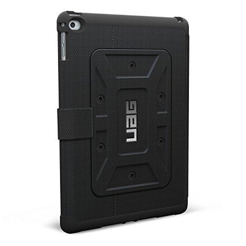 Urban Armor Gear Schutzhülle nach US-Militärstandard für Apple iPad Air 2 - schwarz [Verstärkte Ecken | Wake/Sleep | Sturzfest | Antistatisch | Standfunktion] - UAG-IPDAIR2-BLK-VP