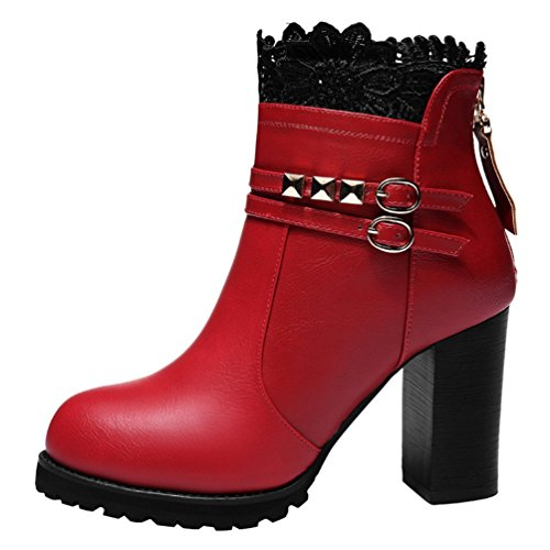 fq-real-womens-beautiful-lace-chunky-buckle-back-zipper-ankle-booties-35-ukred