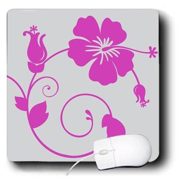 3drose LLC 20,3x 20,3x 0,6cm Maus Pad, hell rosa Hawaiian Flowers auf leichte grauen Hintergrund (MP 44334_ 1) (Maus-pad-hawaiian)
