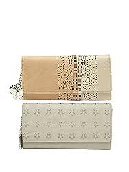 Butterflies Women Wallet Combos (Cream,Beige) (BNS C141) (Pack of 2)