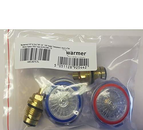 Repuesto de grifo caliente y fr/ío cabezales superiores de 1//2 pulgadas se venden en pares cromado