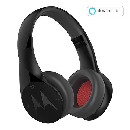 Motorola Pulse Escape Wireless Over-Ear Headphones with Alexa (Black)