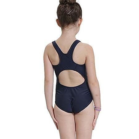 Bwiv maillot de bain 1 pièce fille multicolore maillot de natation résistent au chlore pour filles de 2 à 15 ans