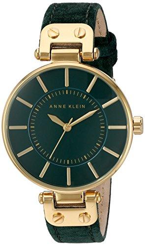 anne-klein-femme-montre-a-quartz-avec-cadran-vert-affichage-analogique-et-sangle-en-cuir-vert-ak-n22