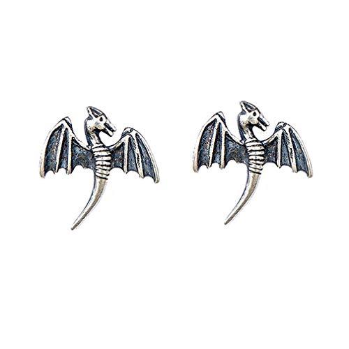TIZIKJ Damen Ohrringe, Sterling Silber 925 Kreative Pterosaur Persönlichkeit Tier Hypoallergen Schmuck, Unisex