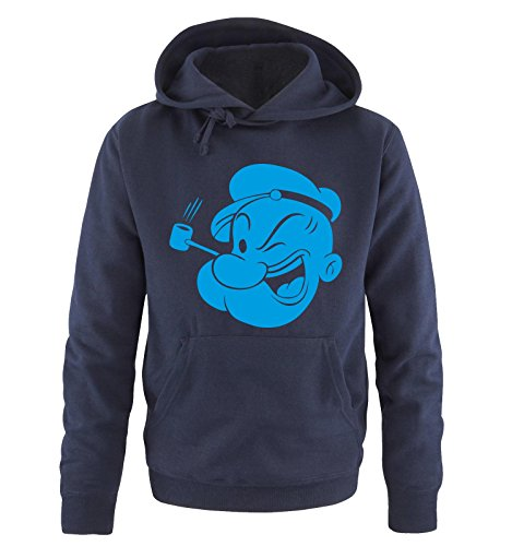 Comedy Shirts - POPEYE - TUT TUT - Herren Hoodie in Navy / Blau Gr. (Sexy Männer Disney)