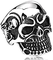 Ring in the form of a skull Mens Titanium (Size 9) NO.BR8-068