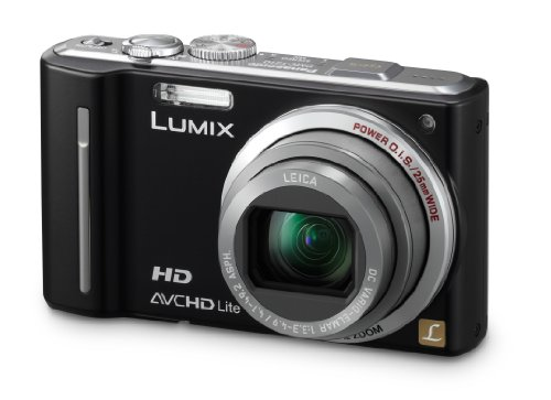 Panasonic Lumix DMC-TZ10EG-K Digitalkamera (12 Megapixel 12-fach opt. Zoom, 7,6 cm Display, Bildstabilisator, Geo-Tagging) schwarz
