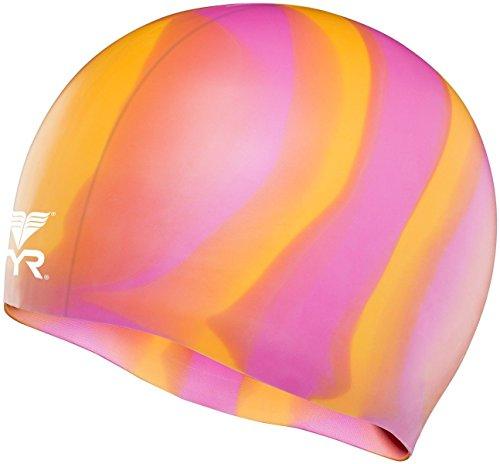 Unisex Badekappe für Erwachsene, Silikon, verschiedene Farben von ® Lizzy Regenbogen Einheitsgröße