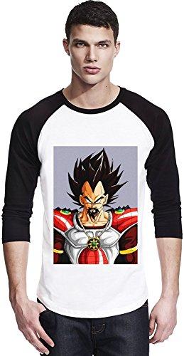 Angry King Vegeta Unisexe Baseball Shirt Small