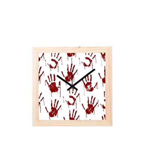 d Kunst Menschliche Hände Nicht tickt Platz Stille Holz Diamant Große Display Digital Batterie Wanduhren Malerei Zifferblatt Für Küche Kind Schlafzimmer Home Office Decor ()
