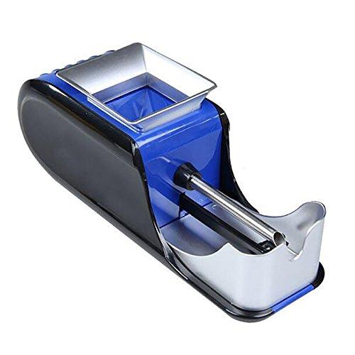Denshine Máquina de Tabaco Electrica Automático Portátil Accesorios de Cigarrillos para Liar Entubar Cigarrillos Color Azul