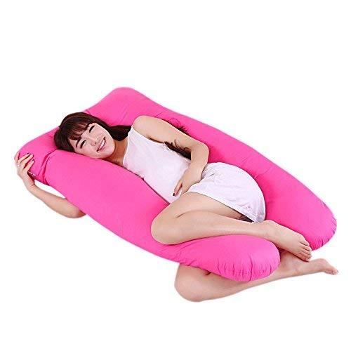 Delisouls Mutterschaft Kissen, Mutterschaft Schwangerschaft Freund Arm Körper Schlafen Kissen, U Förmige Hüllen Schlaf U-Form Kissenbezug für Mutterschaft - rosa - Körper Kissen Kissenbezug