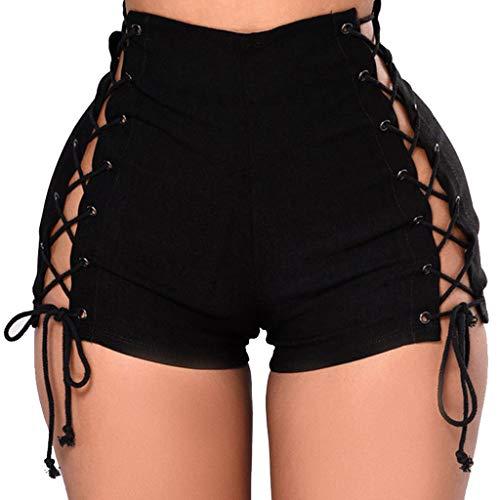 Kurze Jeans Damen Sommer Jeans Abgeschnittene Quaste Booty Niedrige Taille Super Ultra Short Nachtclub Mini Shorts Hosen Hotpants Für Frauen Schwarz XXL -