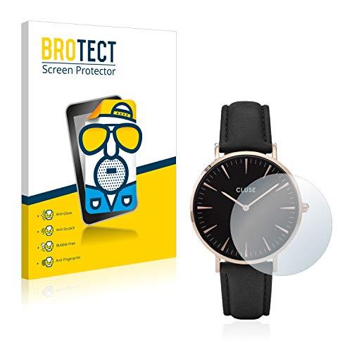 BROTECT Entspiegelungs-Schutzfolie kompatibel mit Cluse La Boheme (38 mm) (2 Stück) - Anti-Reflex, Matt