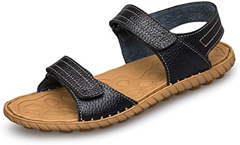 GCH El Hombre de Verano Kraft Velcro Zapatillas Zapatos Sandalias de Playa,Negro,37