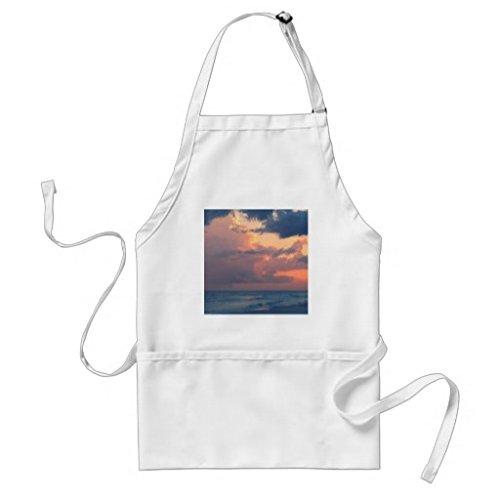 Küche Schürze für Frauen Beach Sunset Sky Destin Schürzen für Mädchen verstellbar Hals Taille Bindungen Kochschürze für Herren