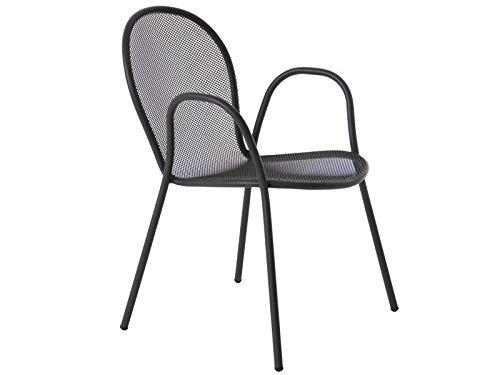 Emu Chaise ronde empilable En fer antique Acier Pour jardin extérieur