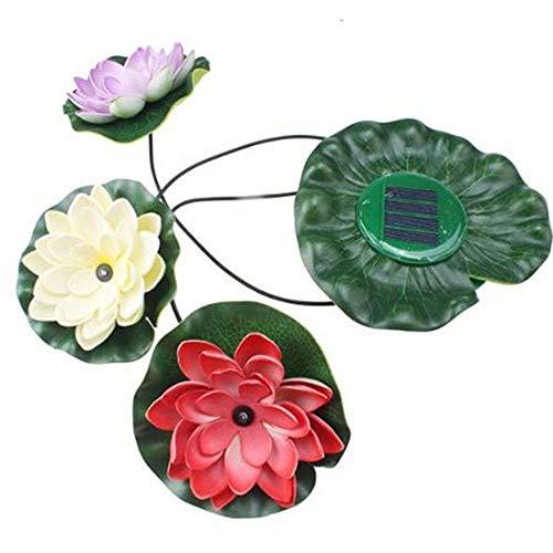 Viktion wasserdicht Solar LED Lotus Licht Solar Gartenleuchte Gartendekoleuchte Garten Teichlampe Solar