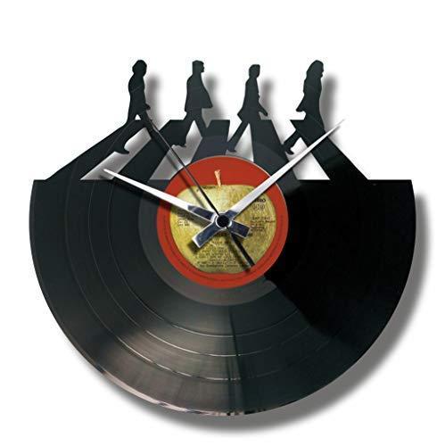 Disc'O'Clock Orologio in Vinile da Parete Lp 33 Giri Silenzioso The Beatles...