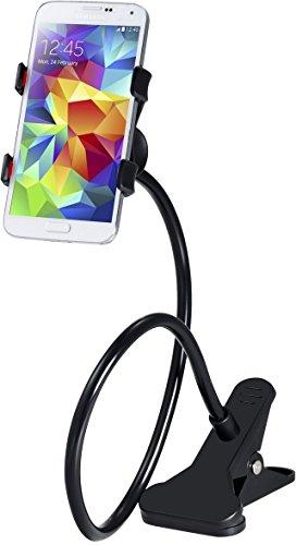 Universal Handyhalterung Schwanenhals, Handy-Halterung Klammer, Halterung Stativ Clip, Handy Gadgets für iPhone, Samsung Smartphone / Handy Halterung - 360 Grad drehbar schwenkbar