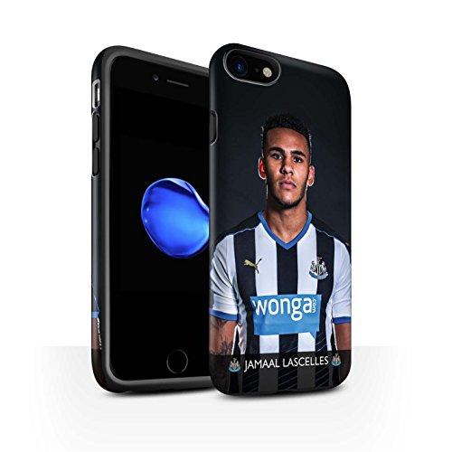 Offiziell Newcastle United FC Hülle / Matte Harten Stoßfest Case für Apple iPhone 7 / De Jong Muster / NUFC Fussballspieler 15/16 Kollektion Lascelles