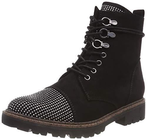 MARCO TOZZI Cool Club Mädchen 46203-21 Combat Boots, Schwarz (Black Comb 098), 36 EU