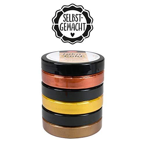 Inka Gold 3er Farbset (Golden Classic) --- Viva Decor Metallic Effektfarbe, Metallglanz Polierfarbe, Effekt Farbe Metall, Bastelfarfe, Dekofarbe