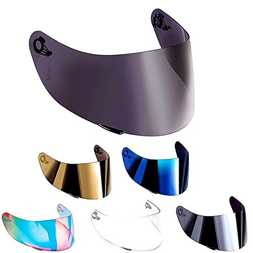 Visera compatible para casco AGV K3,SV K1,K5,K5-SV, K5S, Horizon, Skyline, Strada, Numo GT-2, apto para tallasXXS, XS, S, MS, M, ML, L, XL, XXL. talla única Blu specchio