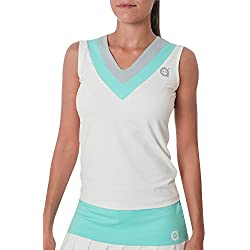 a40grados Sport & Style Cesta - Camiseta de Tirantes para Mujer, Color Blanco, Talla S