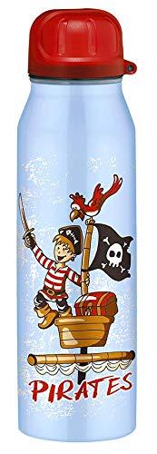 alfi 5337.643.050 Isolier-Trinkflasche isoBottle II, Edelstahl Pirates Blau 0,5 l, 12 Stunden heiß, 24 Stunden kalt, BPA-Free