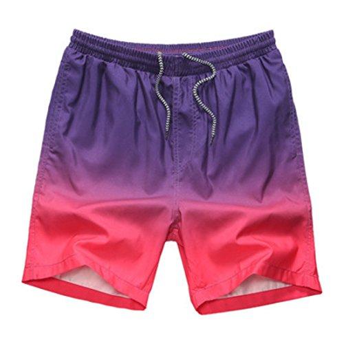 Men's Bermuda Masculina Beach Shorts BlueViolet