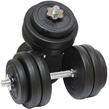 hardcastle 30kg gym dumbbell free weights set amazon co uk sports