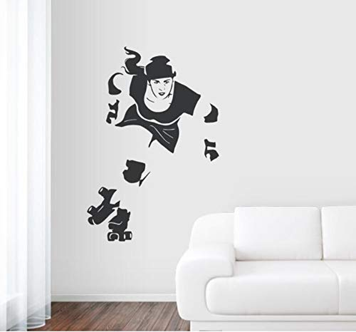 Wuyyii Hohe Qualität Sport Art Aufkleber Wandbild Derby Mädchen Wandaufkleber Wohnkultur Wohnzimmer Entfernbare Vinyl Aufkleber Tapete 56X84 Cm