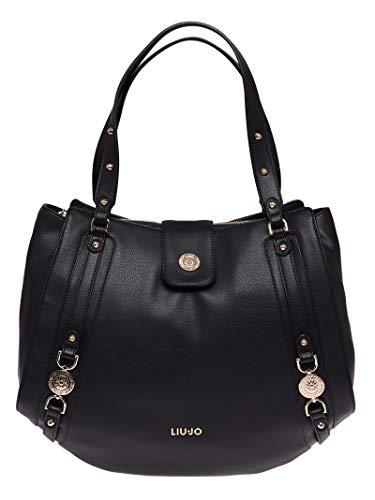 Borsa shopping liu-jo it's me 3 comparti ecopelle colore nero donna bs19lj03