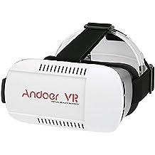 """Andoer® Head-mounted Google Cartón Versión VR Gafas 3D de Realidad Virtual DIY de Vídeo Juego con Mini Multifuncional Inalámbrica Bluetooth Selfie Gamepad para Todos los 4.7 ~ 6.0 """"Smart Phones"""