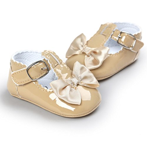 Saingace Baby Bowknot Prinzessin Soft Sohle Schuhe Kleinkind Turnschuhe Freizeitschuhe Khaki