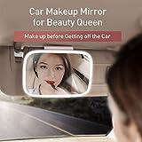 """Specchio parasole auto con illuminazione a LED, LED Specchio da toilette di corsa di trucco Specchio clip di auto parasole automobile assicura 310 millimetri 12 """"per l'Universal camion dell'automob..."""