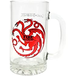 Jarra para Cerveza de cristal Juego de Tronos , diseño Targaryen