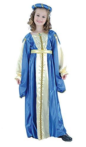 Kostüm Prinzessin Julia Kind - EL CARNAVAL Kostüm mittelalterliche Prinzessin Julia Größe von 8bis 10Jahre
