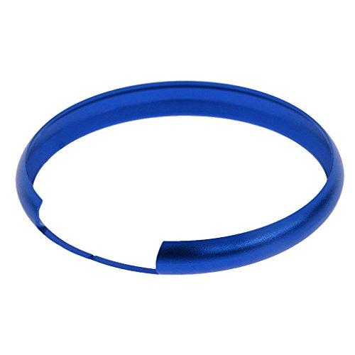 MagiDeal 45cm Aluminium Smart Key Fob Schutzring Abdeckung Für Mini Cooper und andere Autos - Blau (Mini Cooper Ersatzschlüssel)