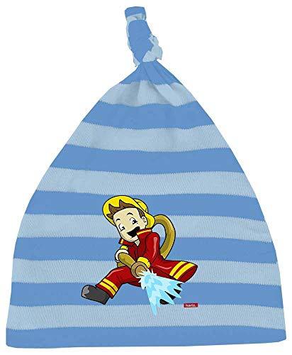 Accessoires Kostüm Feuerwehrmann - HARIZ Baby Mütze Knoten Streifen Feuerwehrmann Schlauch Löschen Beruf Feuerwehr Plus Geschenkkarten Blau/Himmel Hell Blau