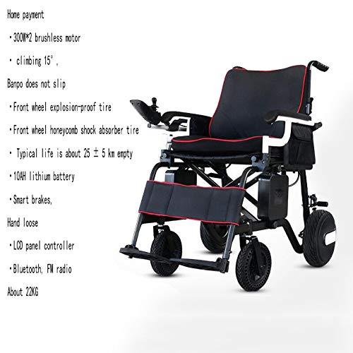 Der elektrische Rollstuhl, der leichtmit Batterie langlebiges Gut faltet, stützt Flugzeuggrad-Aluminiumlegierungs-Rahmen stärker Neu verbessert mit dem sichereren und beständigeren, genehmigten