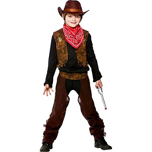 Cowboy Or Cowgirl Childrens Fancy Dress Costume Wild West Kids - Kid Cowboy Kostüm