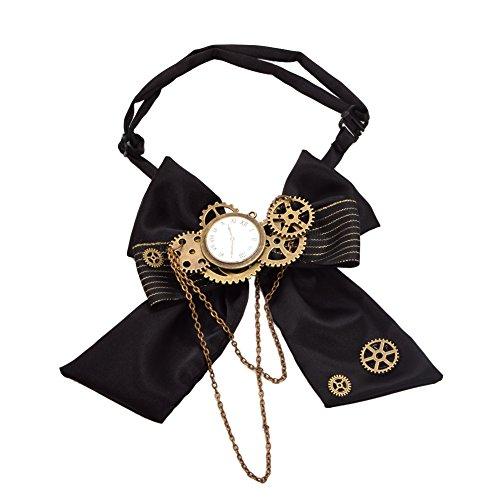 Kostüm Zubehör Herren - BLESSUME Unisex Gothic Gear Bowtie Vintage Steampunk Viktorianischen Fliege Krawatte (Mehrfarbig 2)