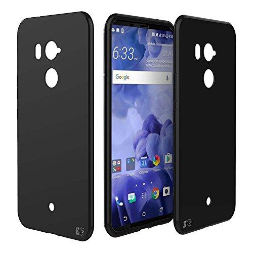 KingShark Custodia HTC U12 Plus ultra caso della copertura della cassa [sottile sottile] gomma flessibile del gel di TPU molle del silicone pelle protettiva per HTC U12 Plus (nero)