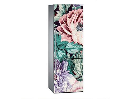 Oedim Vinilo Frigorífico Flores Moradas Rosas 185x60cm