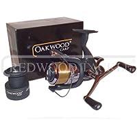 Double Handle Size 40 Deluxe Oakwood Baitrunner Fishing Carp Reel + Line