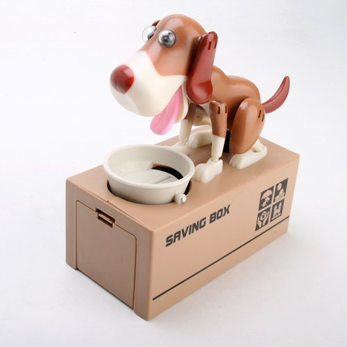Eshowy My Dog Piggy Bank - Robotic Coin Eating Munching Toy Money Saving Box by Eshowy